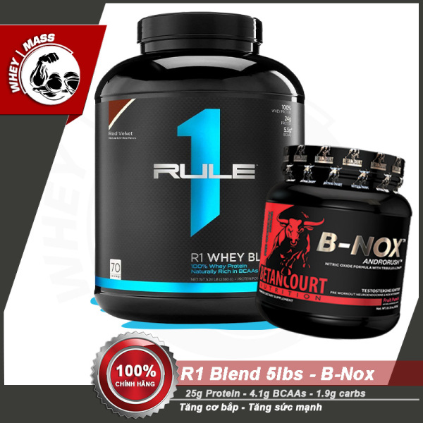 [COMBO] Tăng Cơ Bắp Tăng Sức Mạnh Rule1 BLEND 5lbs - B-NOX (35 servings) giá rẻ