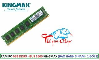 RAM PC 4GB DDR3 - BUS 1600 KINGMAX (BẢO HÀNH 3 NĂM - 1 ĐỔI 1) thumbnail
