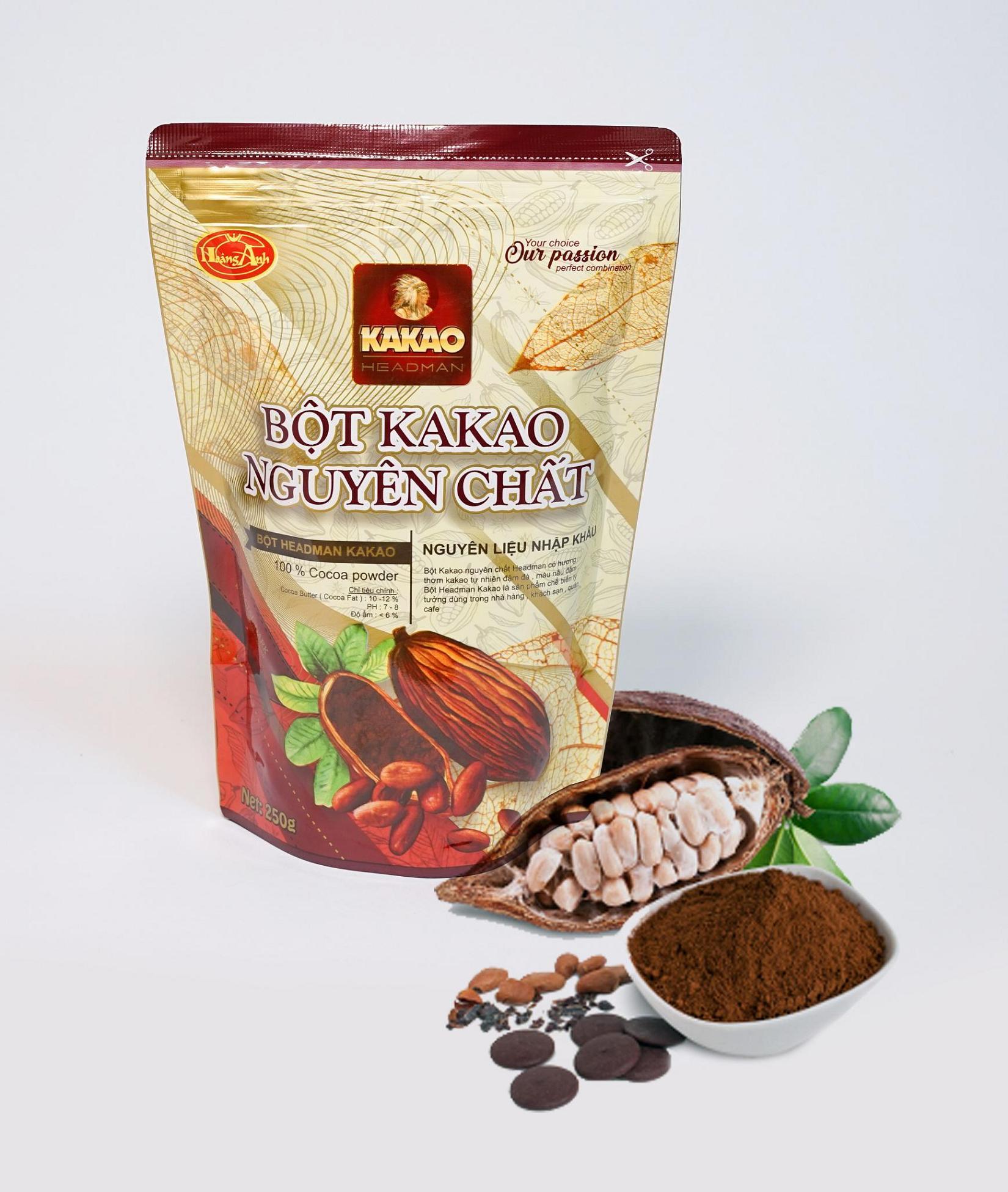 Cacao Headman Nguyên chất (250gr)