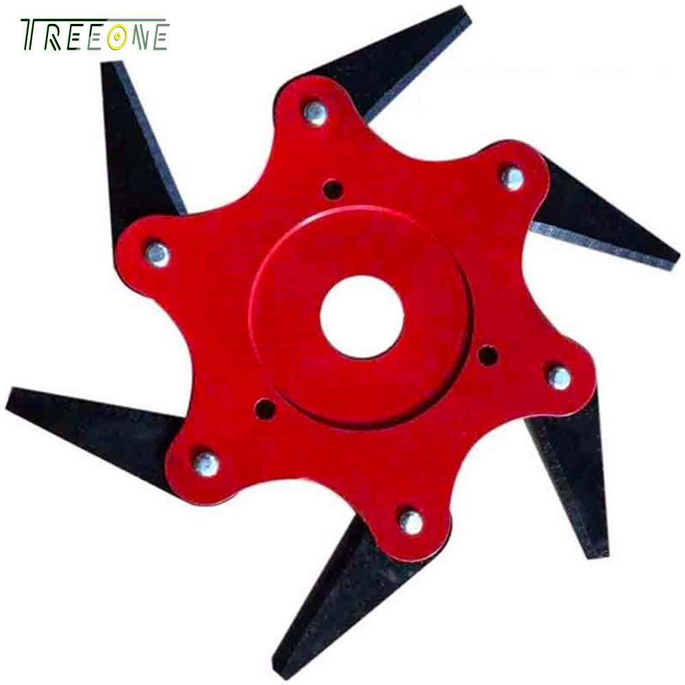 Treeone Đầu Tông Đơ Cắt cho Máy Cắt Cỏ, đa năng 6 Răng Vườn Cỏ Đầu Tông Đơ Bền Lưỡi Kim Loại Dụng Cụ bãi cỏ