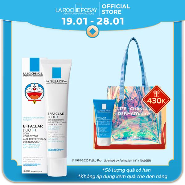 Bộ Kem dưỡng giảm mụn thông thoáng lỗ chân lông và ngừa thâm La Roche Posay Effaclar Duo+ Doraemon giá rẻ