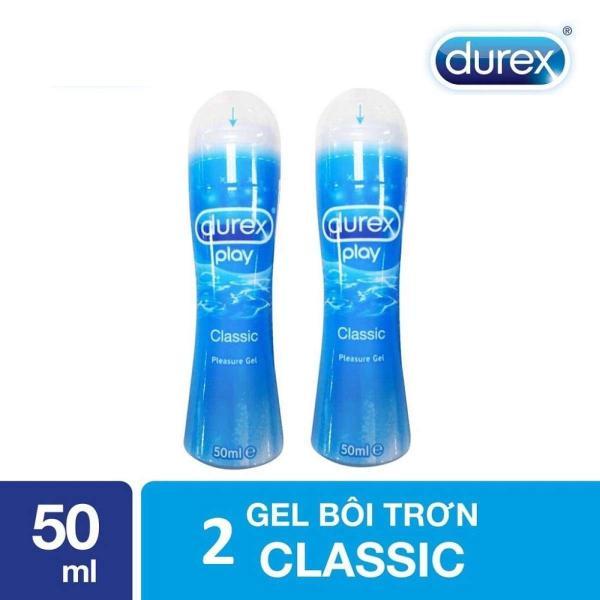 Combo 2 chai Gel bôi trơn Durex Play Classic 50ml tăng độ ẩm vùng kín, tạo cảm giác mịn màng, êm ái làm thăng hoa cuộc yêu