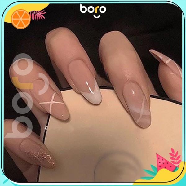 Móng Tay Giả HOTTREND 2021 nail giả thiết kế bắt mắt nail box 24PCS giá rẻ