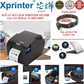 [HCM]Máy Mimi In Tem Hóa Đơn Mã Vạch Công Nghệ In Nhiệt 2 Trong 1 Xprinter XP-330B Cao Cấp ( khổ in 80mm in nhiệt trực tiếp lên giấy decal tự động fix giấy tương thích với tất cả phần tốc độ in cực nhanh ) thumbnail