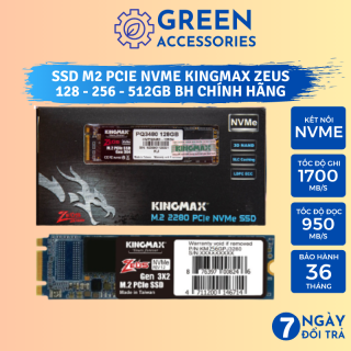Ổ Cứng SSD M2 PCIe NVMe KingMax Zeus PX3480 (2280) - 512GB 256GB 128GB - NEW FULLBOX BH Chính Hãng 3 Năm thumbnail