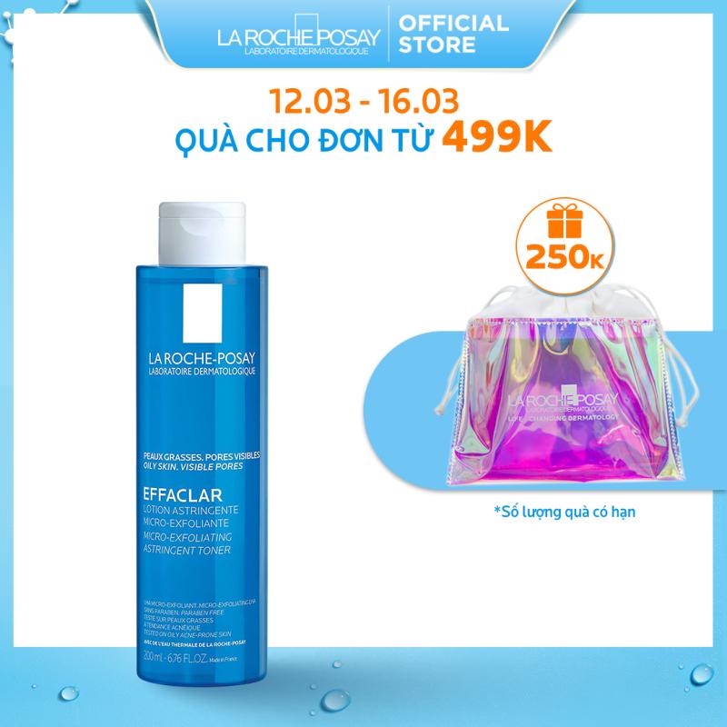 Nước cân bằng (toner) giàu khoáng dành cho da dầu La Roche Posay Effaclar Astringent Lotion 200ml
