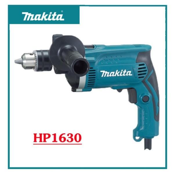 ( Fullbox Phụ Kiện) Máy Khoan Búa Makita HP1630, Máy khoan búa tốc độ cao Makita HP1630, Máy Khoan Đa Năng, Đục Gỗ , Cắt Đá, Bê Tông, vơi công suất lớn 710W, hoạt động mạnh mẽ và an toàn tuyệt đối