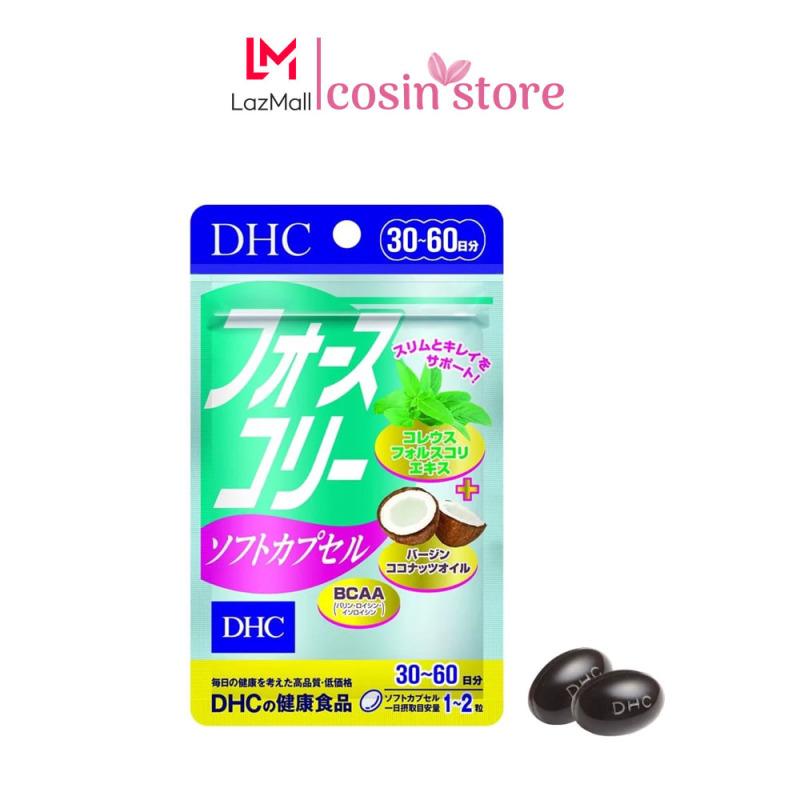 Viên uống giảm cân DHC Forskohlii Soft Capsule gói 60 viên 30 ngày dùng - Hỗ trợ kiểm soát cân nặng cao cấp
