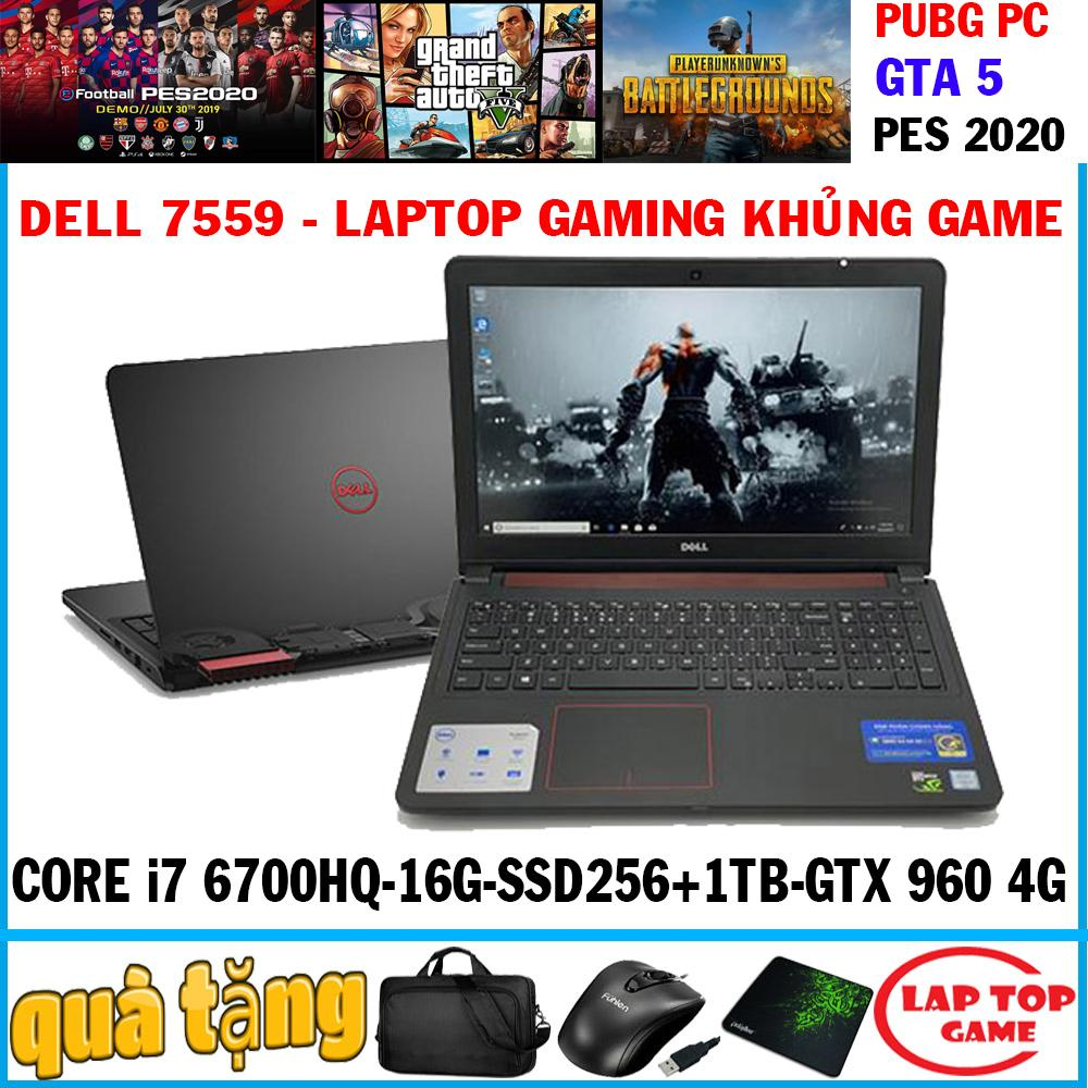Laptop Dell Inspiron 7559 siêu gaming Core i7-6700HQ/ 8G/ 1TB/ VGA GTX 960M- 4G, màn 15.6″ Full HD 1920*1080, DÒNG MÁY CHUYÊN GAME