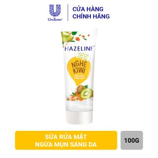 Sữa rửa mặt Hazeline Ngừa mụn Sáng da Nghệ và Kiwi 100g thumbnail