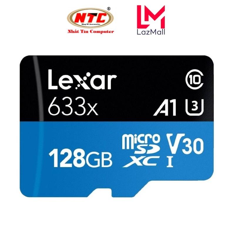 Thẻ nhớ MicroSDXC Lexar 128GB 633x A1 V30 U3 4K 95MB/s (Xanh) - Không Box