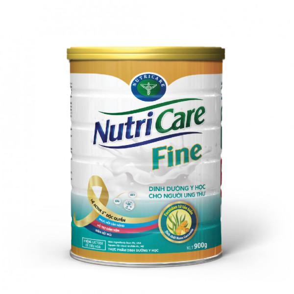 Sữa bột Nutricare Fine - dinh dưỡng y học cho người ung thư hỗ trợ cải thiện tình trạng suy kiệt, suy dinh dưỡng giúp tăng cường sức khỏe (900g) nhập khẩu