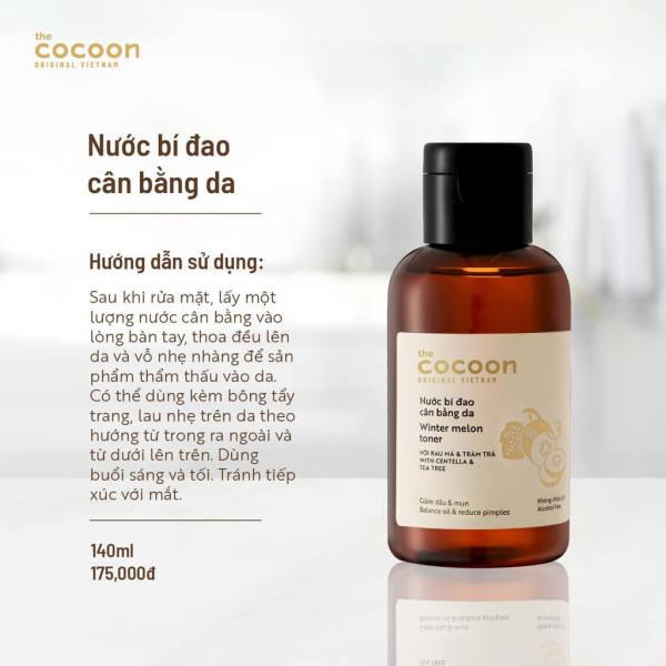[CHÍNH HÃNG]Nước cân bằng da bí đao Cocoon 140ml giúp cân bằng độ pH, giảm dầu, làm sạch lỗ chân lông, cải thiện tình trạng mụn ẩn giá rẻ