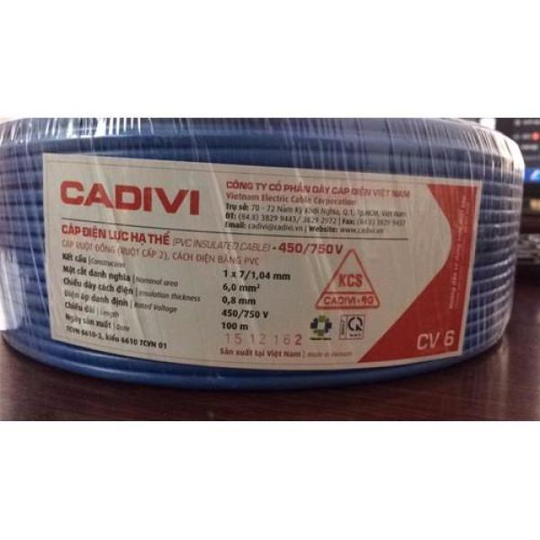DÂY CÁP ĐIỆN CADIVI CV6,0 mm2 - 100 mét