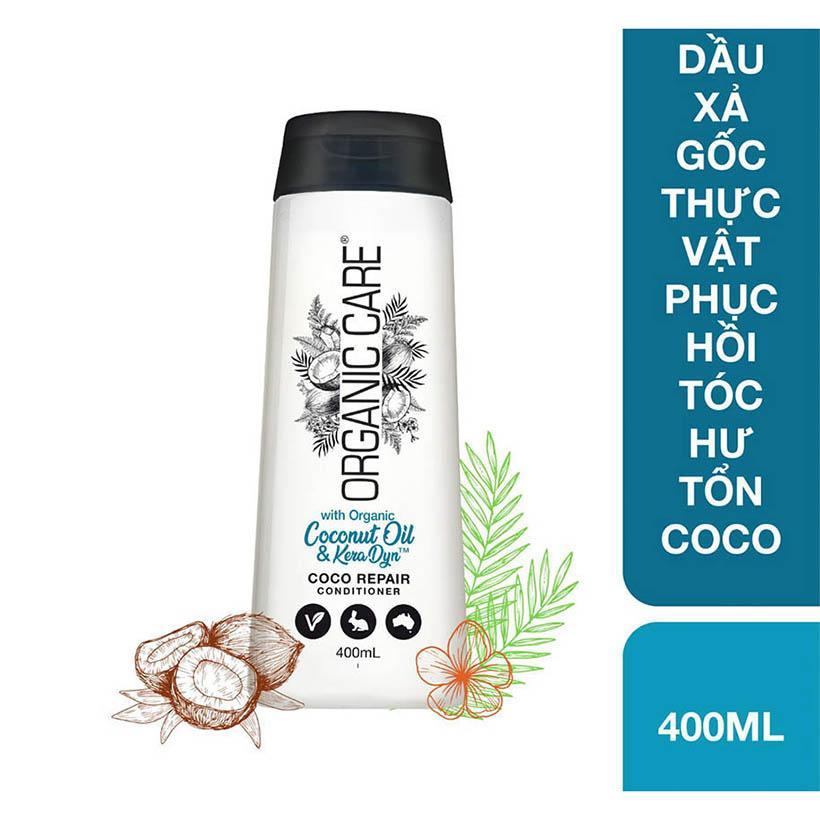 Dầu xả gốc thực vật phục hồi tóc hư tổn Coco Organic Care chai 400ml