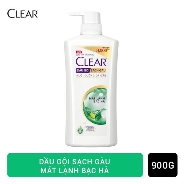 Clear Mát Lạnh Bạc Hà Dầu Gội Sạch Gàu 900g