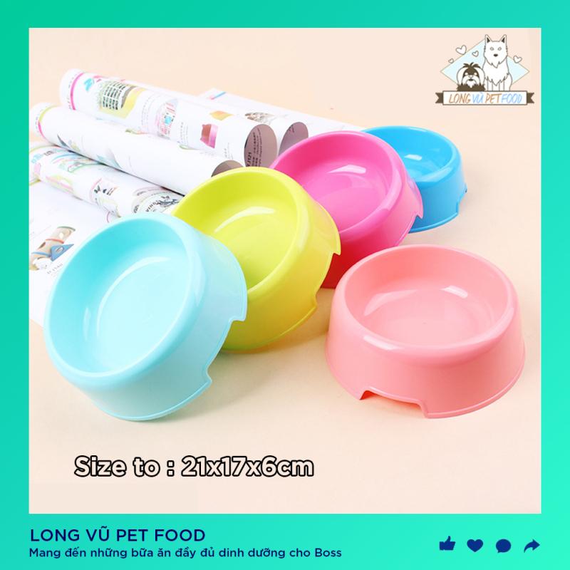 Bát ăn chó mèo (size 15cm) - Bát tròn đơn Chất liệu nhựa / chén ăn chó / bát ăn mèo / bát ăn thú cưng / bát nhựa đơn cho chó / bát cho mèo và chó / bát thú cưng