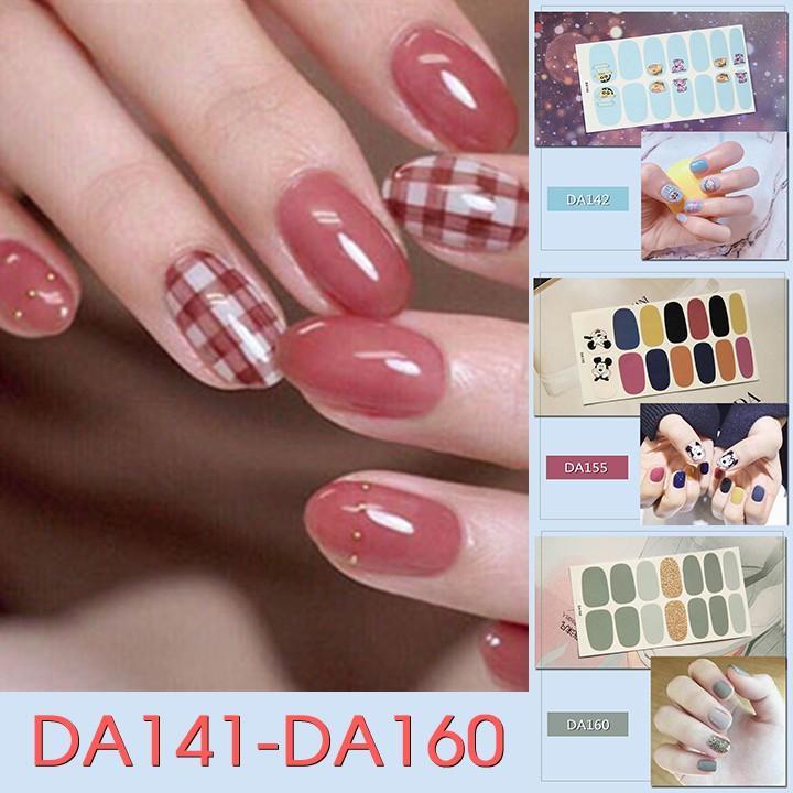 Miếng dán trang trí móng tay nghệ thuật mã DA141 - DA160
