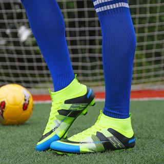 Giày đá bóng, giày đá banh, giày bóng đá, giày thể thao màu xanh phối đen đẳng cấp sân cỏ, chắc chắn và ôm chân, giảm tối đa chấn thương dành cho nam thumbnail