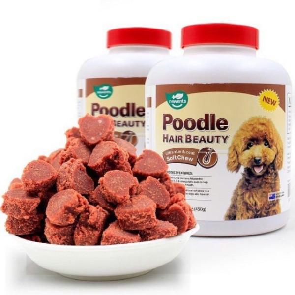 Viên dưỡng lông cho poodle hair beauty, giúp hỗ trợ tốt cho sức khỏe của chó Poodle, đặc biệt là giúp đẹp lông và bảo vệ hạn chế các bệnh ngoài da toàn diện
