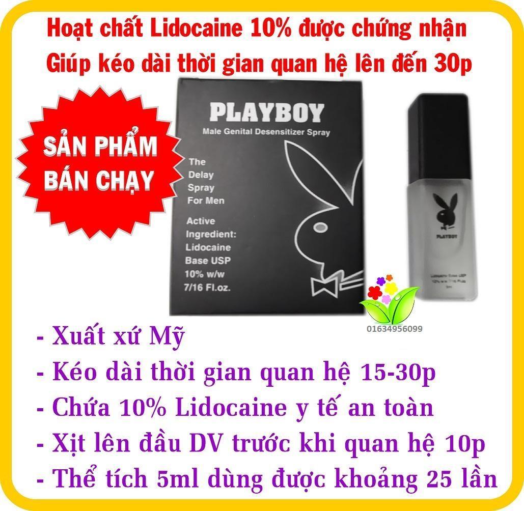 Chai xịt hỗ trợ chống xuất tinh sớm PlayBoy
