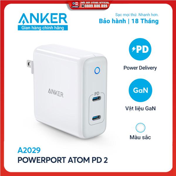 Sạc ANKER PowerPort Atom PD 2 [GaN Tech] 60W 2 cổng PD - A2029