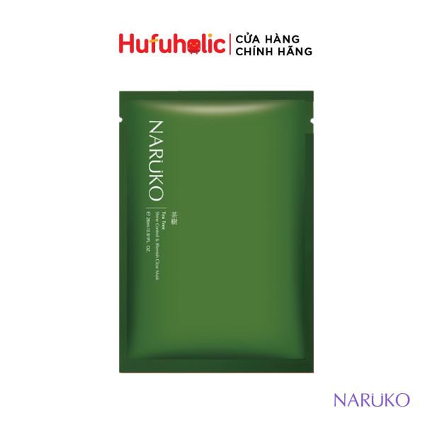 Mặt nạ NARUKO Tràm Trà kiểm soát dầu và ngăn ngừa giảm mụn Tea Tree (Đài - Trung)