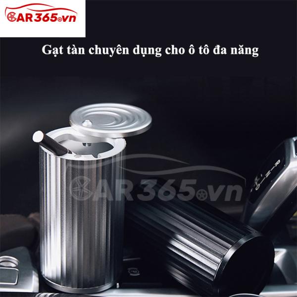 Gạt tàn chuyên dụng cho ô tô, xe hơi chất liệu sang trọng, không gỉ, Thiết kế tinh tế và sáng tạo - Gạt tàn ô tô xe hơi đa năng, có nắp đậy tiện lợi - CAR13
