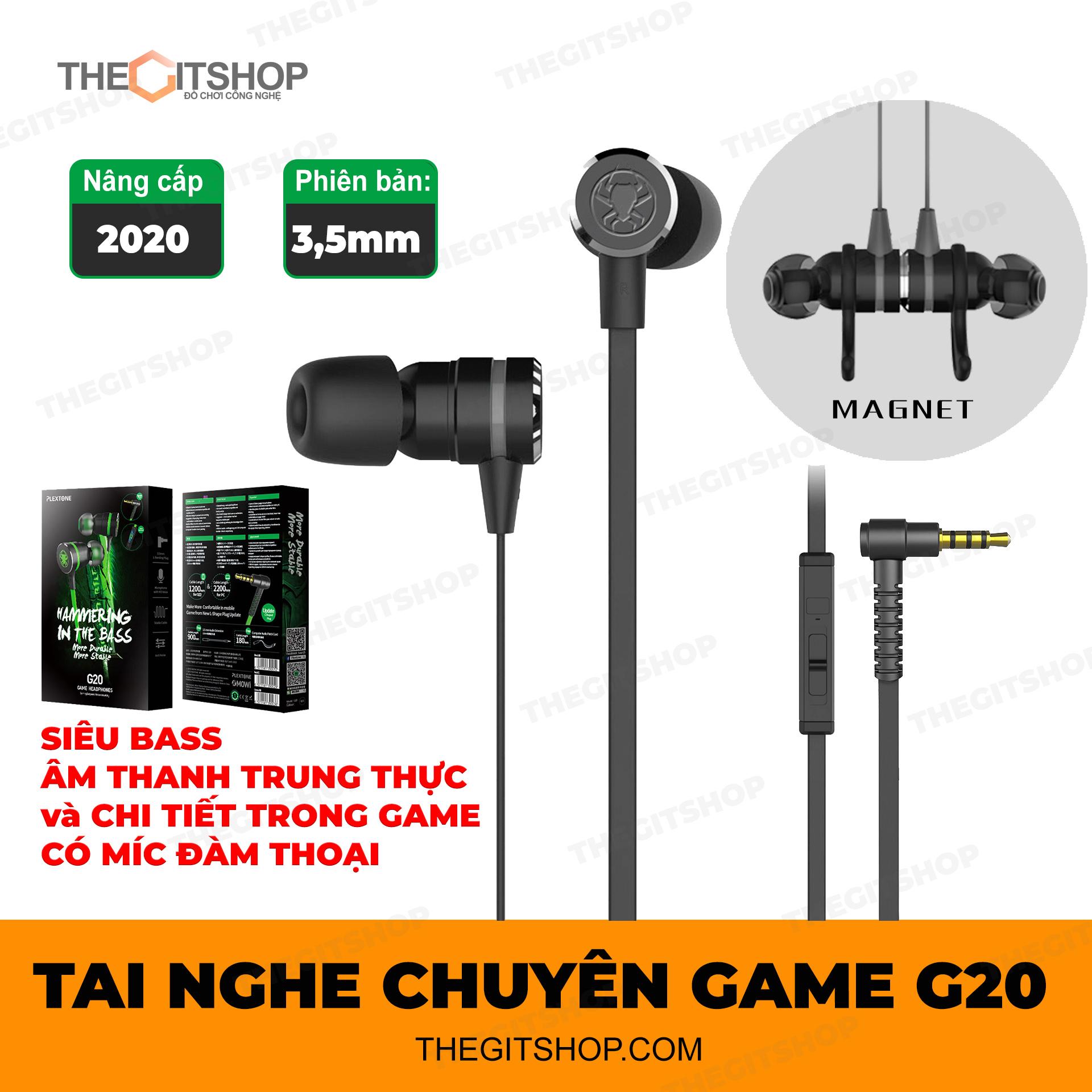 Tai nghe gaming Plextone G20 - Có mic - Chuyên game