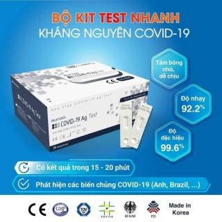 [HCM]Kit Test nhanh Covid 19 tại nhà Humasis Ag - Được Bộ Y Tế công nhận hiệu quả cao thời gian cho kết quả mau được đưa vào sử dụng trong Y Tế (Giá 1 Kit 4 món) thumbnail