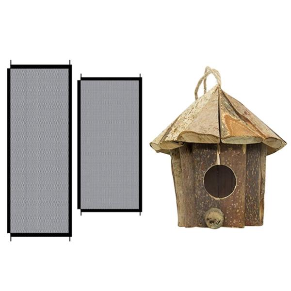 2Pcs Dog Pet Fences Portable Folding Safe Guard Magic Gate & 1 Pcs Wooden Bird House Nest Handmade
