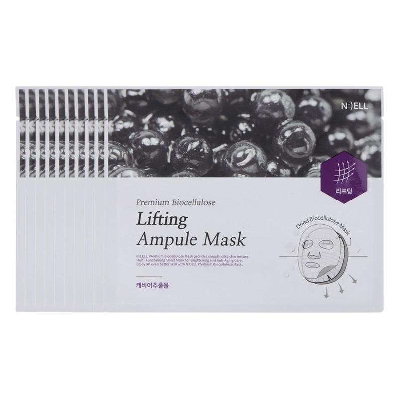 Combo 10 Mặt Nạ Lụa Sinh Học Cao Cấp Bio Premium Cellulose Lifting Ampule ( Nuôi dưỡng da và Nâng Cơ Mặt )