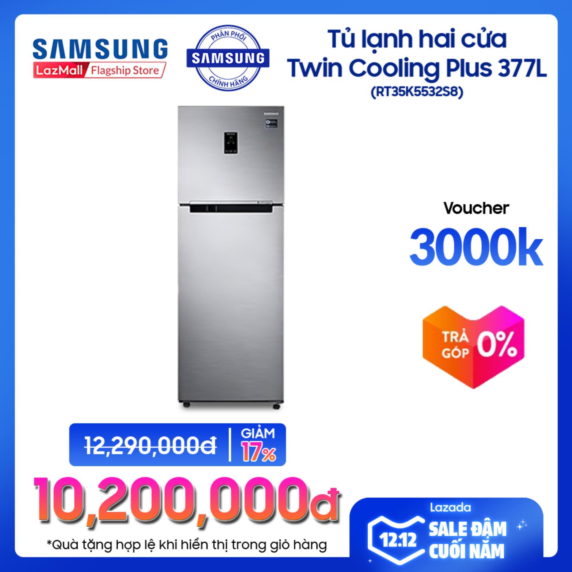 Giá Tiết Kiệm Khi Sở Hữu Tủ Lạnh 2 Cửa Samsung Twin Cooling Plus RT35K5532S8/SV 364L (Đen) - Hàng Phân Phối Chính Hãng