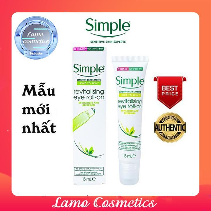 Lăn Mắt Simple Kind To Skin Revitalising Eye Roll-On Chính Hãng 100% nhập khẩu