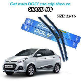 HCM-GẠT MƯA Silicon dành cho xe Hyundai Grand I10 hàng DOLY cao cấp(22-16) gạt sạch, êm giúp lái xe an toàn thumbnail