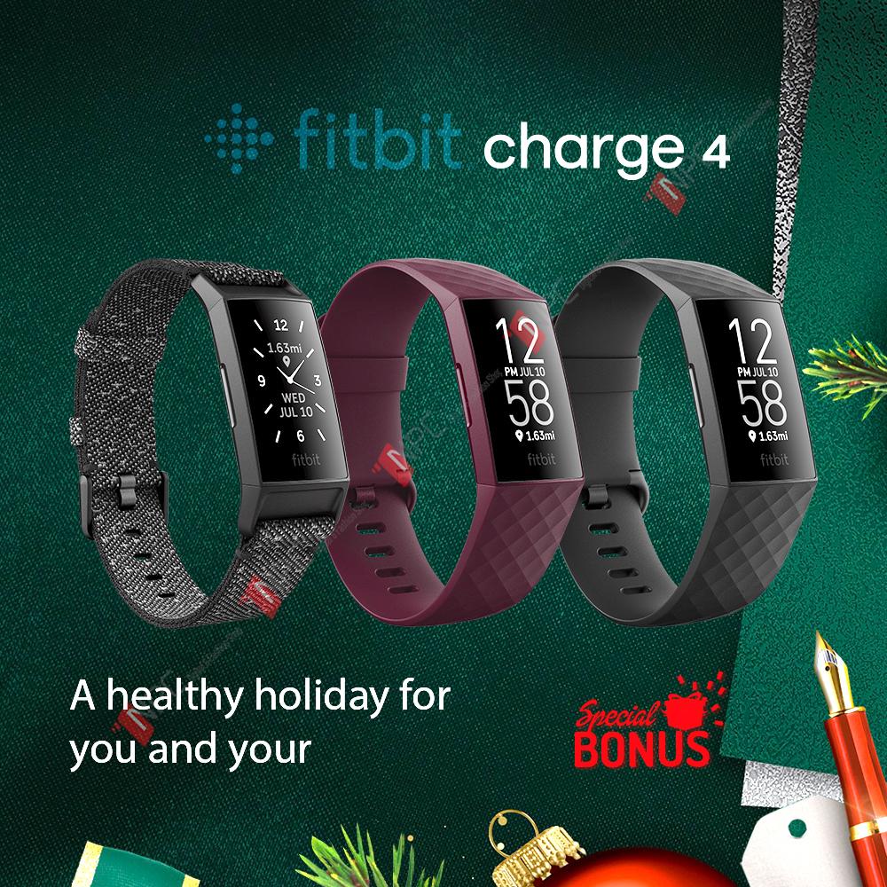 Vòng Đeo Tay Thông Minh Sức Khỏe Fitbit Charge 4 Theo Dõi Sức Khỏe - Nhịp Tim - Giấc Ngủ - GPS