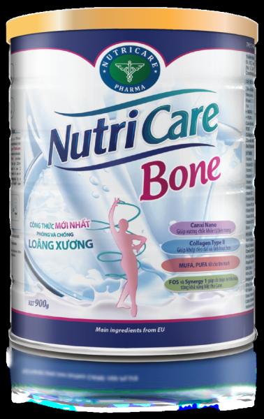 Sữa bột Nutricare Bone - phòng loãng xương, cải thiện xương khớp (900g)