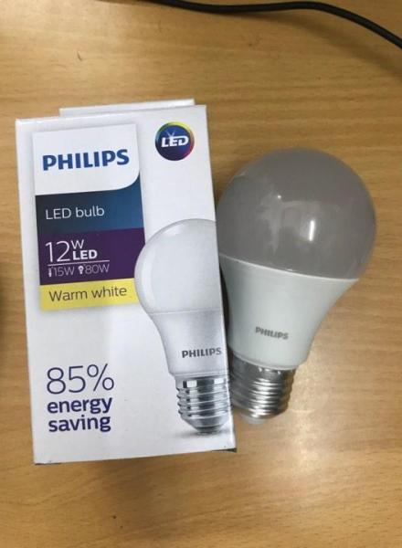 Led Bulb Philips 12W ánh sáng trắng/vàng