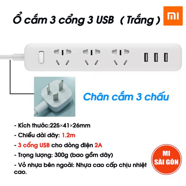 Bảng giá Ổ cắm điện 3 Cổng 3 USB Xiaomi Power Strip
