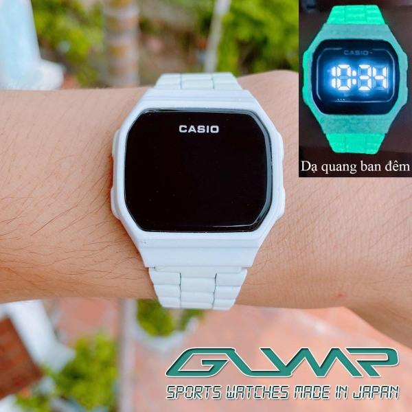 Đồng hồ nữ Casio A168 Mặt 38mm,DẠ QUANG,Màu Trắng Đen,Dây thép không ghỉ,màn hình điện tử cảm ứng,Unisex,Bản đẹp cá tính siêu xinh-GumpVN