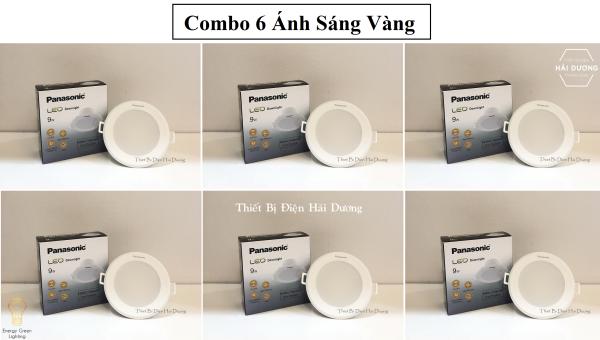 Combo 6 Đèn Panasonic LED Downlight âm trần 9w NNNC7596488 Trắng - NNNC7581488 Vàng