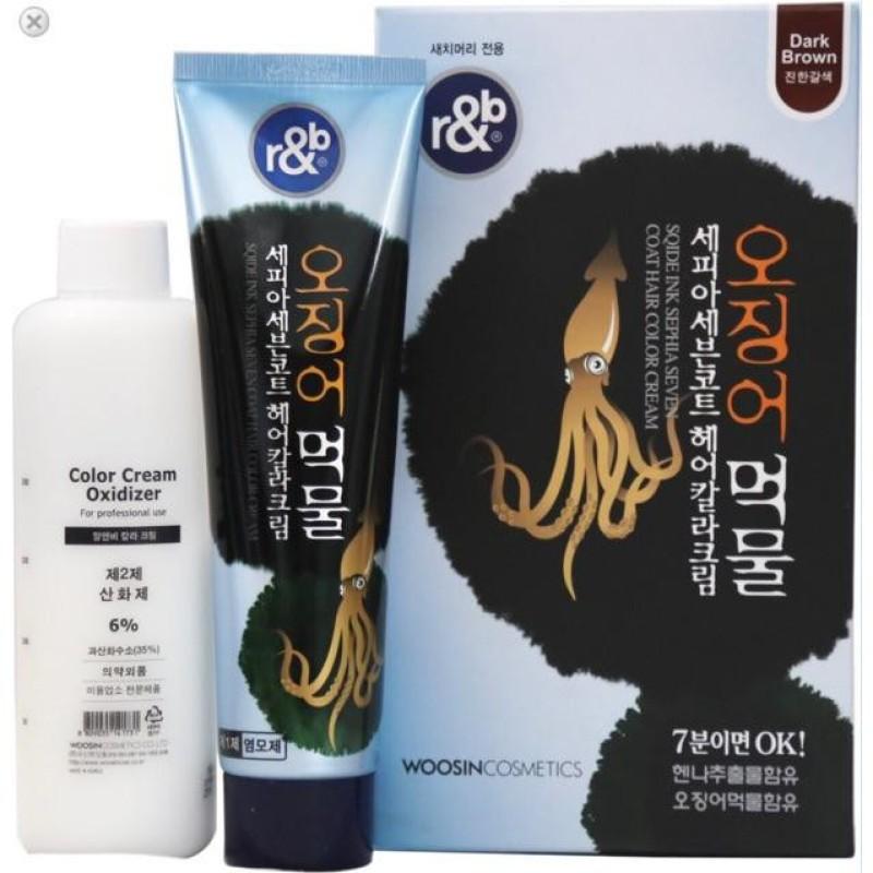 Kem Nhuộm tóc BẠC r&b HENNA (NATURAL BROWN, DARK BROWN, Black) 150ML cao cấp