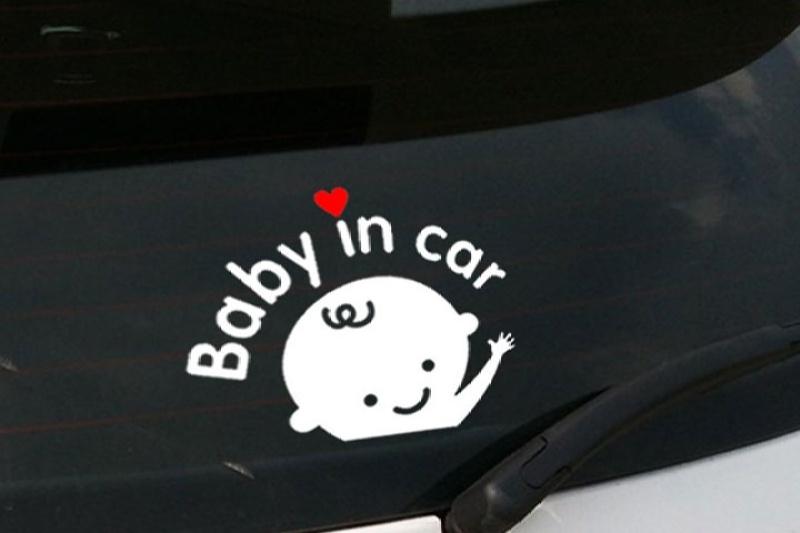 Tem Trang Trí Ô Tô Baby In Car-Boy
