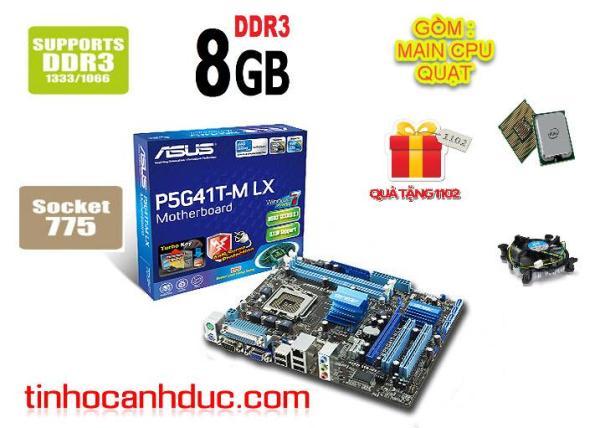 Bảng giá Main ASUS P5G41T-MLX sk 775 sp 8G DDR3 TẶNG KÈM CPU QUẠT FE CHẮN ĐẦY ĐỦ Phong Vũ