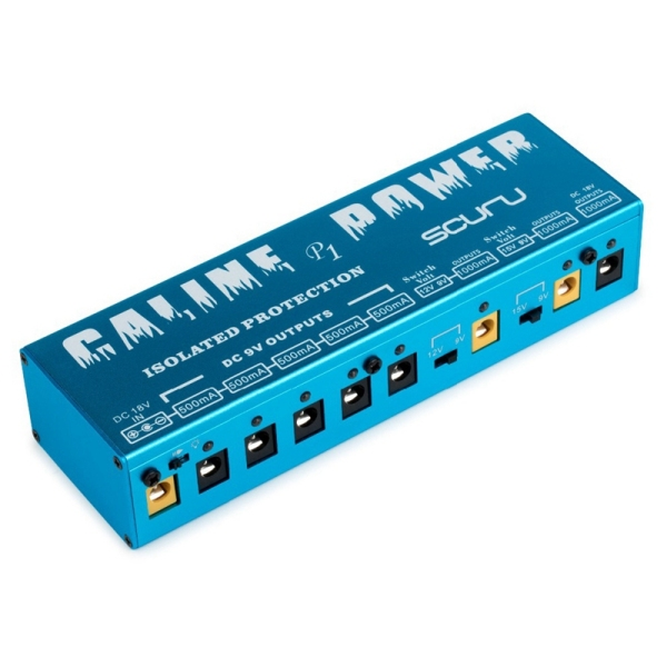 Caline P1 Isolated Power Supply 18V 2A 36W Guitar Effects Pedal 8 Isolated Outputs Power Supply P1 Blue Color Guitar Accessories,Eu Plug