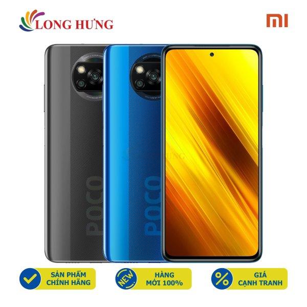 Điện thoại Xiaomi Poco X3 NFC (6GB/64GB) - Hàng chính hãng - Màn hình 6.67inch FHD+, bộ 4 Camera sau, Pin 5160mAh, Cảm biến vân tay tích hợp trên nút nguồn