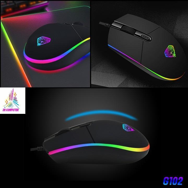 Giá Chuột Máy Tính,chuột gaming ,chuột chơi game giá rẽ ,Chuột quang có dây,Chuột game thủ Divipard G102 Led RGB DPI 2400
