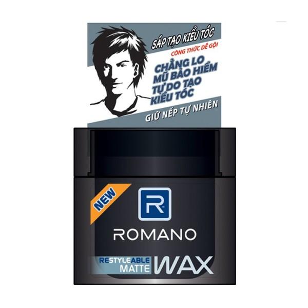 Wax tạo kiểu tóc cao cấp Romano Matte giữ nếp tự nhiên 68gr giá rẻ