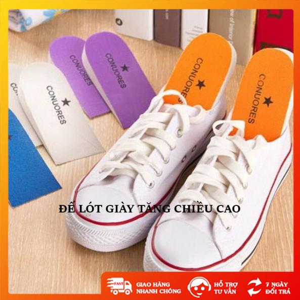 Đế lót giày tăng chiều cao chất liệu bằng xốp hạn chế lún xẹp, miếng độn giày tăng chiều cao từ 3 đến 5 cm - TT0233 giá rẻ