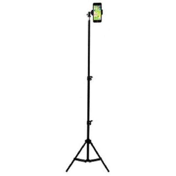 Giá đỡ tripod cao cấp 3 chân kéo cao 2m hỗ trợ livestream, chụp hình, quay video, tặng kèm đầu kẹp điện thoại và remote bluetooth
